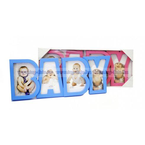 Baby műanyag montázs képkeret 17x47 cm