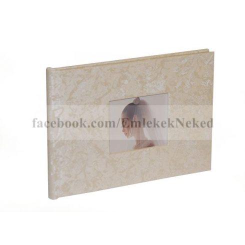 Esküvői bedugós bőrhatású fotóalbum 10x15 cm/24 db