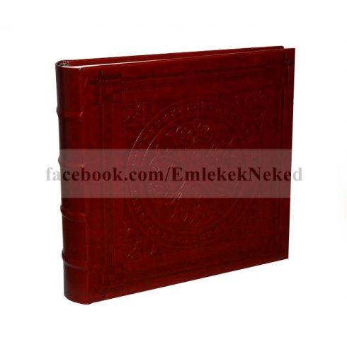 Bőrhatású bedugós fotóalbum melléírhatós 10x15 cm/200 db