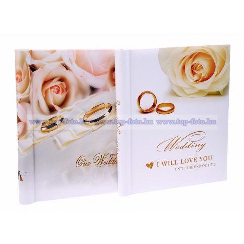 Öntapadós esküvői fotóalbum 20 oldal 28x21 cm