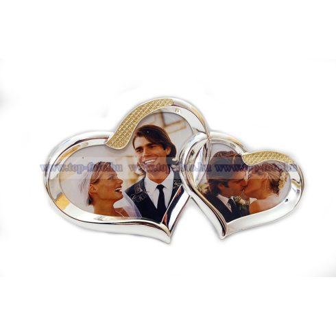 Esküvői szív alakú fényképtartó  13x23 cm/2