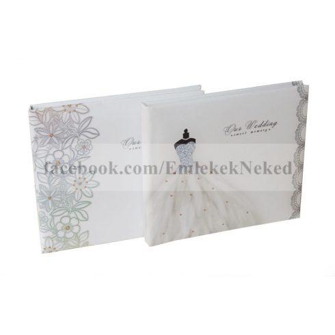 Esküvői vendégkönyv 22x25 cm