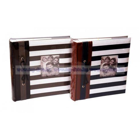 Bedugós fotóalbum melléírhatós könyvkötéssel varrott oldalak 10x15 cm/200 db