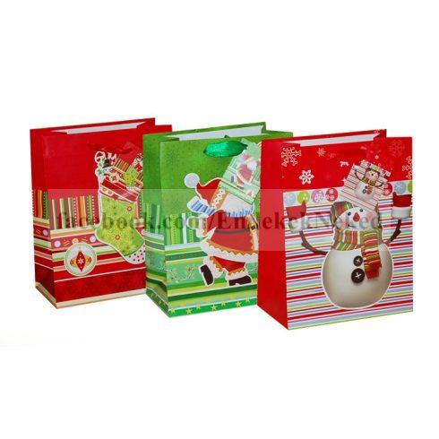 Exkluzív karácsonyi ajándéktasak méret: közepes