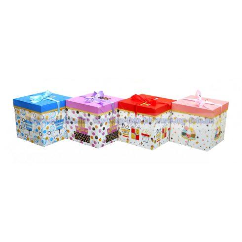 Happy Birtday ajándékdobozok 12 db/ csomag